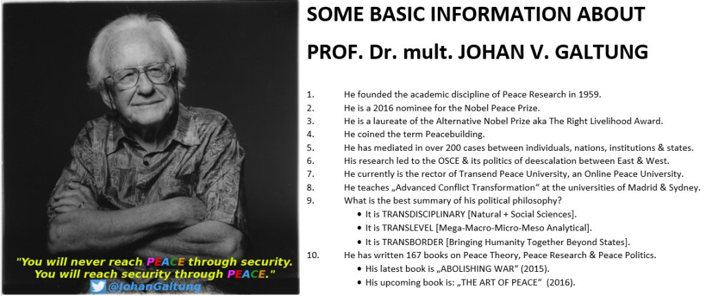 Johan Galtung 10 points